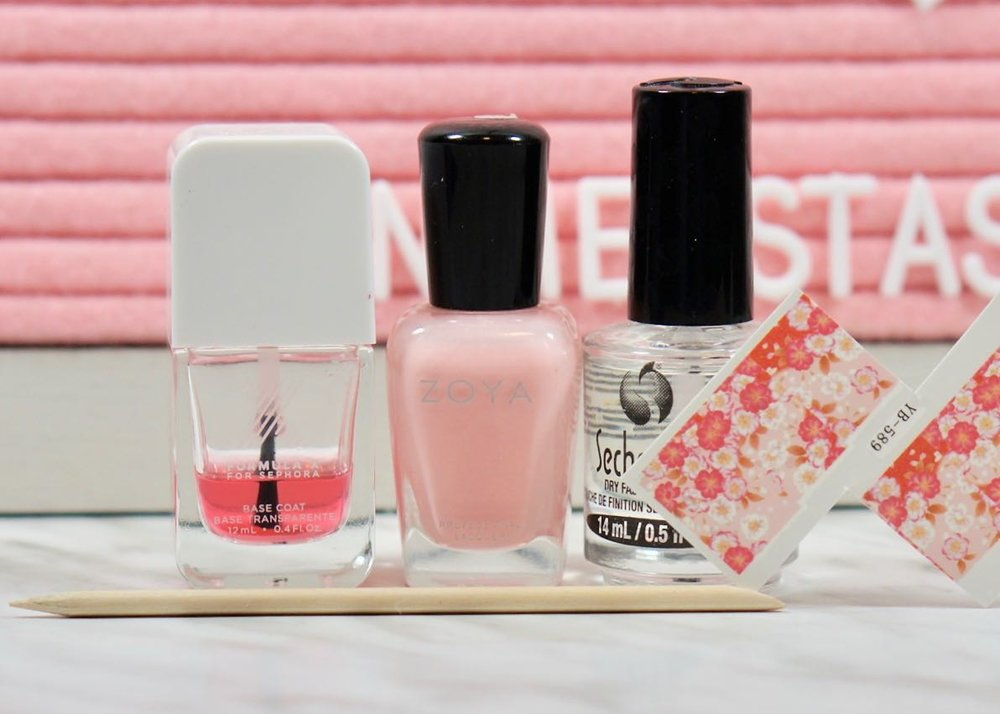 The products I used for my first foray into Water Decal Nail Art!