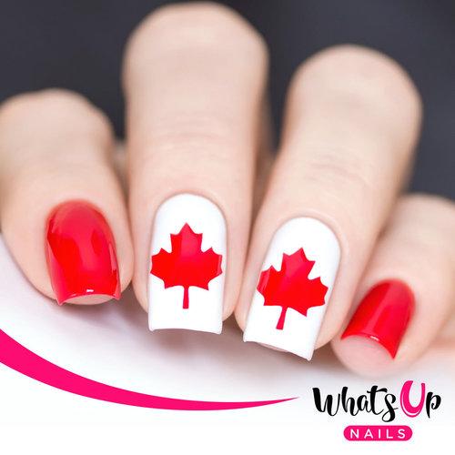 Canada Day Nail Art Plus A Free Set Of Nail Vinyls Sandies Stash