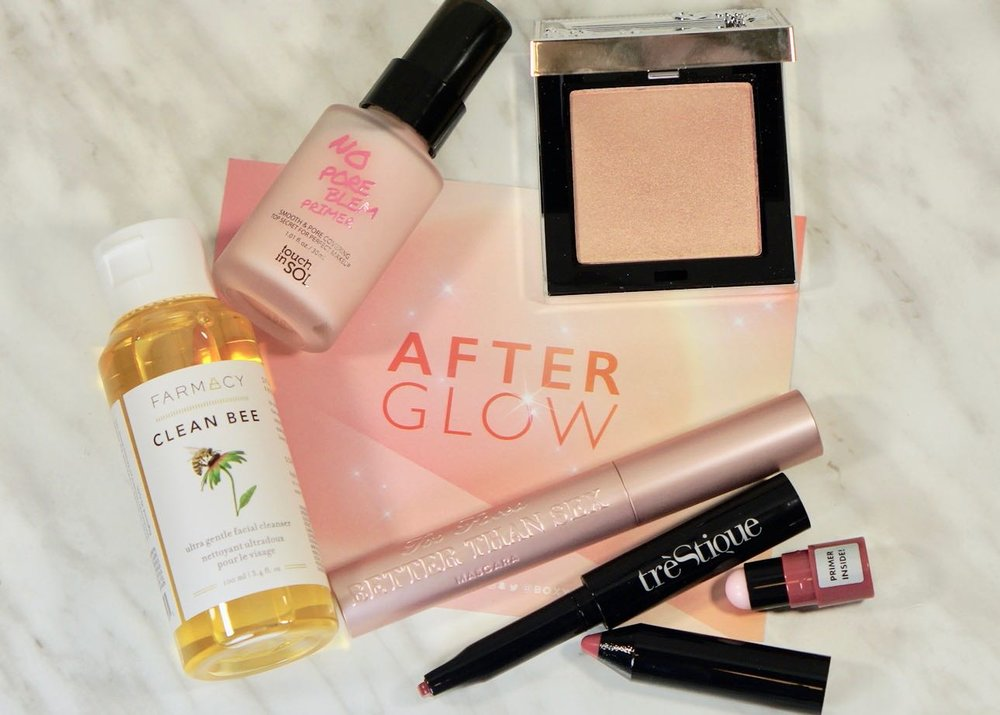 Another nice assortment of products to try out in my February 2019 'After Glow' Boxy Charm.