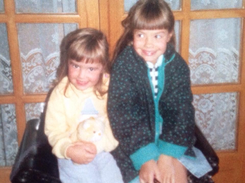 #countdowntoroundhouse   day six!!! Here's wee Elaine and her little sis Laura!! Look at those wee faces!!!! Xx