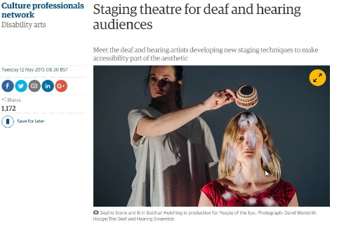 The DH Ensemble discuss their work in the Guardian's Culture Professionals section
