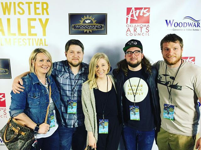 Twister Alley Film Festival with the sibs. I am so stinking proud of these guys. ♥️ all the films were great - but Cardboard Cadet, Flutter and The Last Dronie were my favs 😍 if you don't have weekend plans, now you do!! Do yourself a favor and go to the film festival at the Woodward arts theatre!! #twisteralleyfilmfestival #okiefilm  Ps. We missed @whitneyncastor