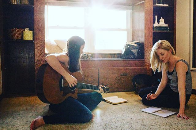 Co-write with @danielle_todd last week. 7 songs 2.5 days and I can't get 'em outta my head 🎶 #songwriter #okiemusic #nashville #oklahoma - photographed by: @brooklynnalexanderphotos
