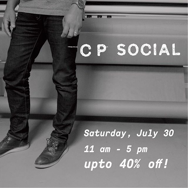 Mark the date on your calendar🗓✔️ Our Summer #CPSocial event is almost here! 👖⚫️🔵 #CustomFit #CPJeans #clintonparksf #workwearinspired #madeinUSA #rawdenim #selvedge 🔹photo credit: @droidmaker
