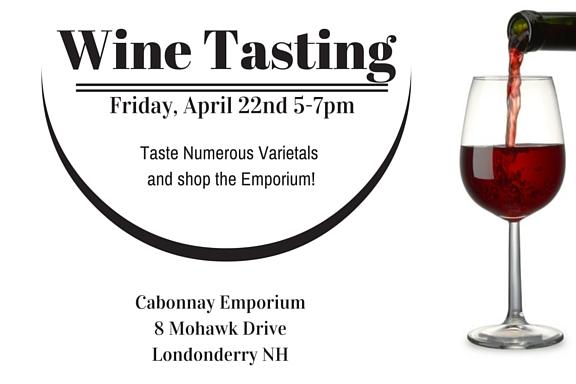 Wine Tasting April 22