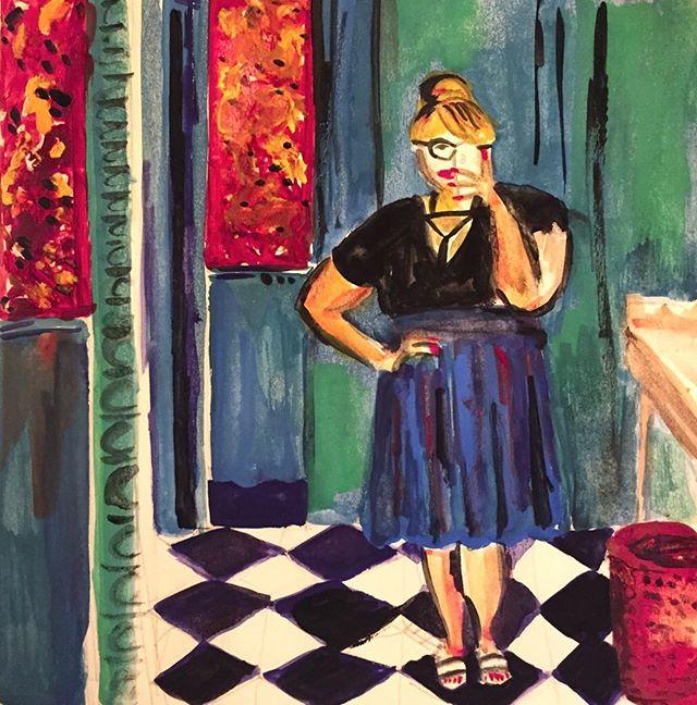 A Matisse inspired selfie 🤳 #inktober