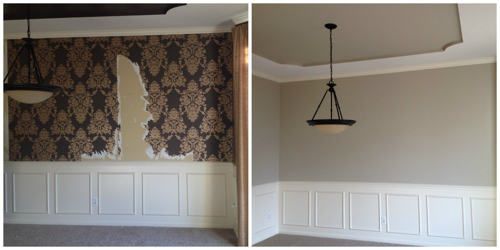 painting after wallpaper  Wallpaper Removal — All-in-One Wertz Painting