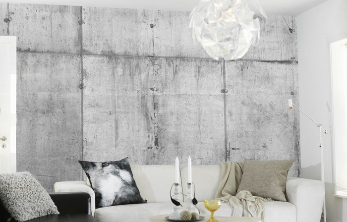 Concrete wallpaper wall