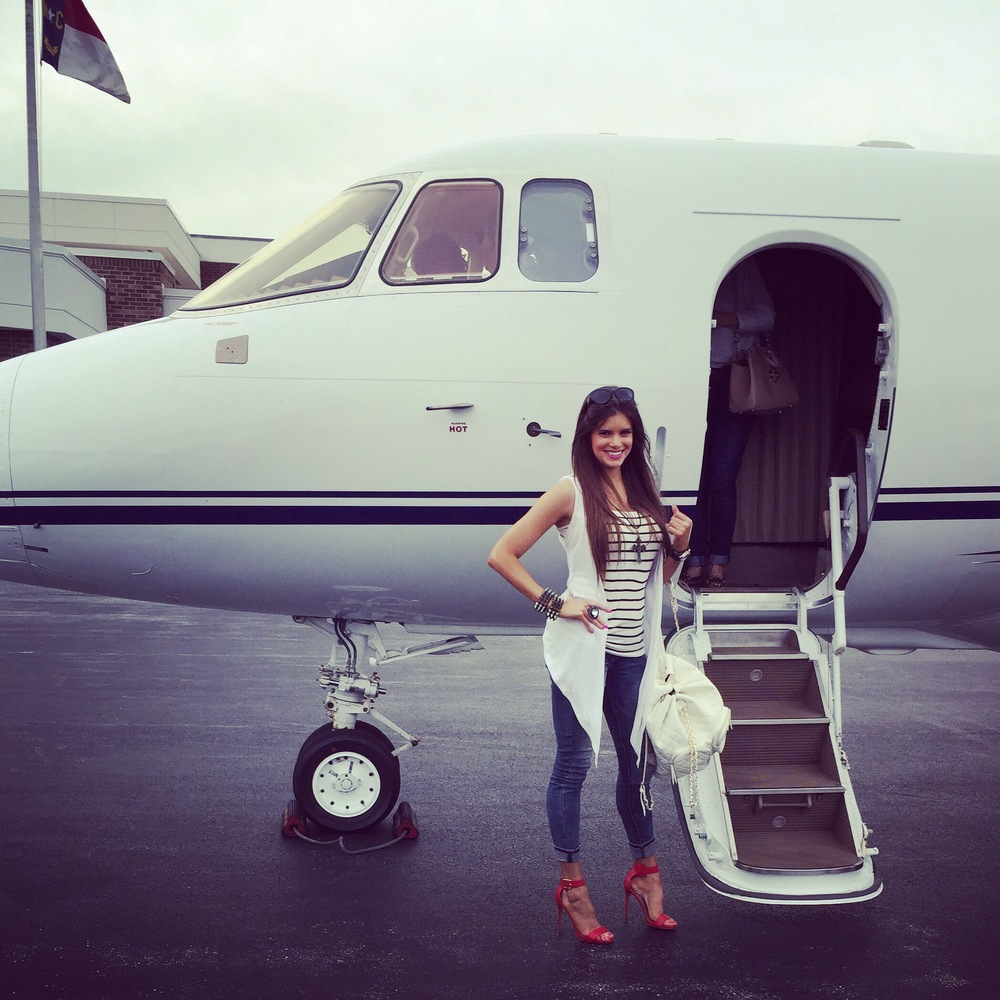 I was fortunate enough to take a private jet to the furniture Market in   High Point, North Carolina!
