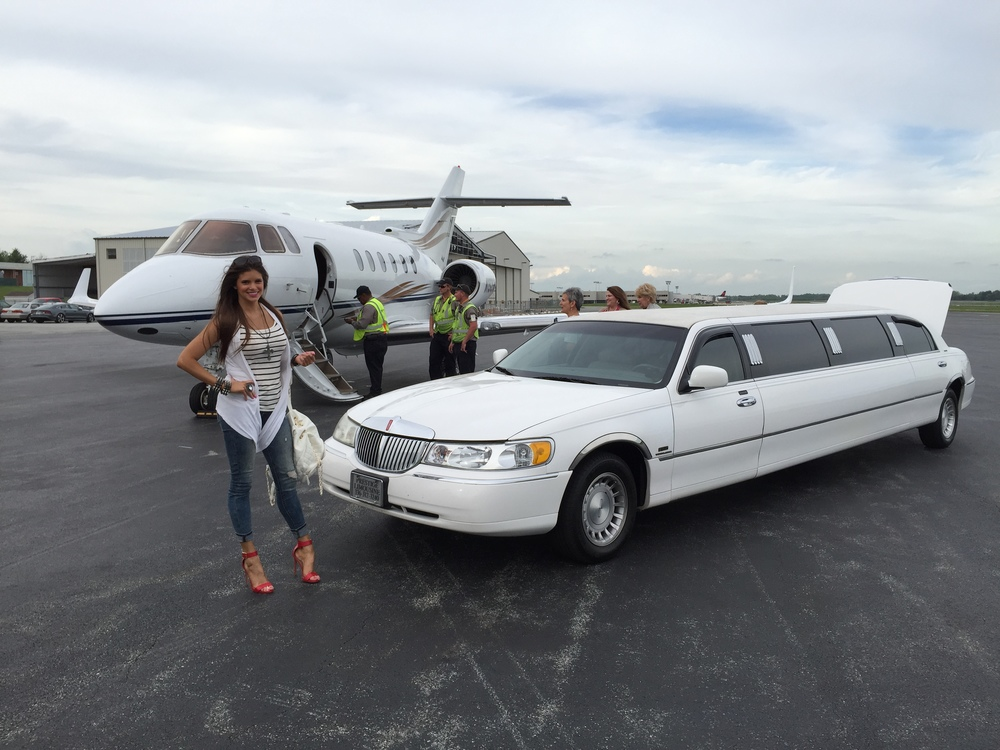 Took a limo from the jet to my hotel room!
