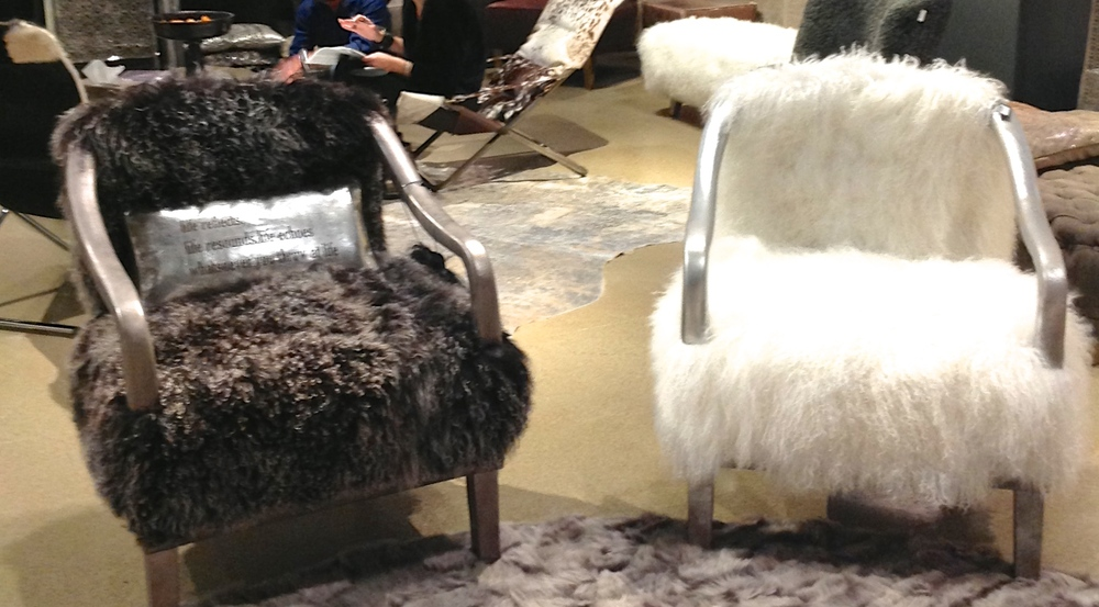 These little accent chairs may be a little too furry for some people, but they are showstoppers nonetheless!