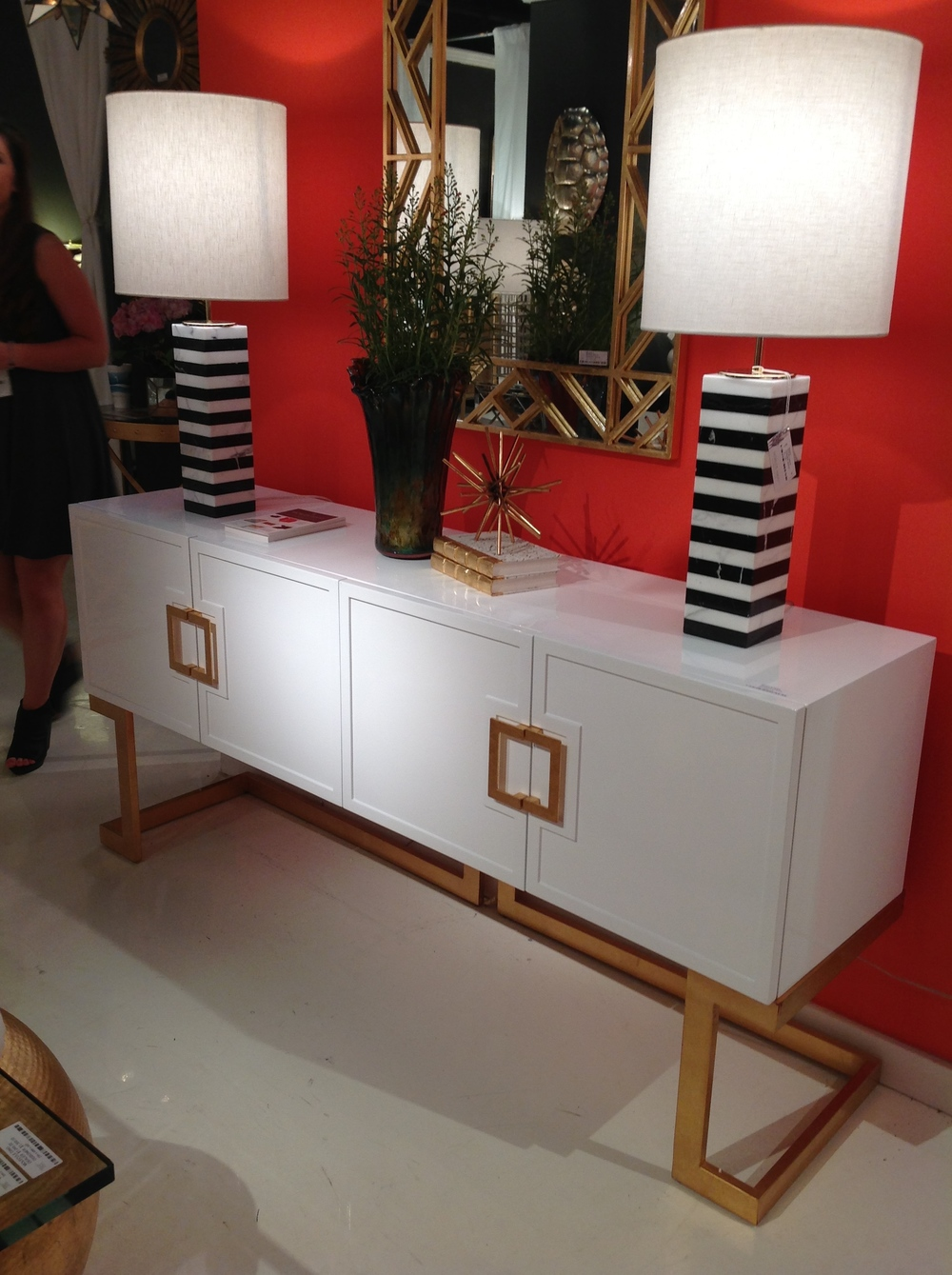 A sleek, contemporary style buffet table