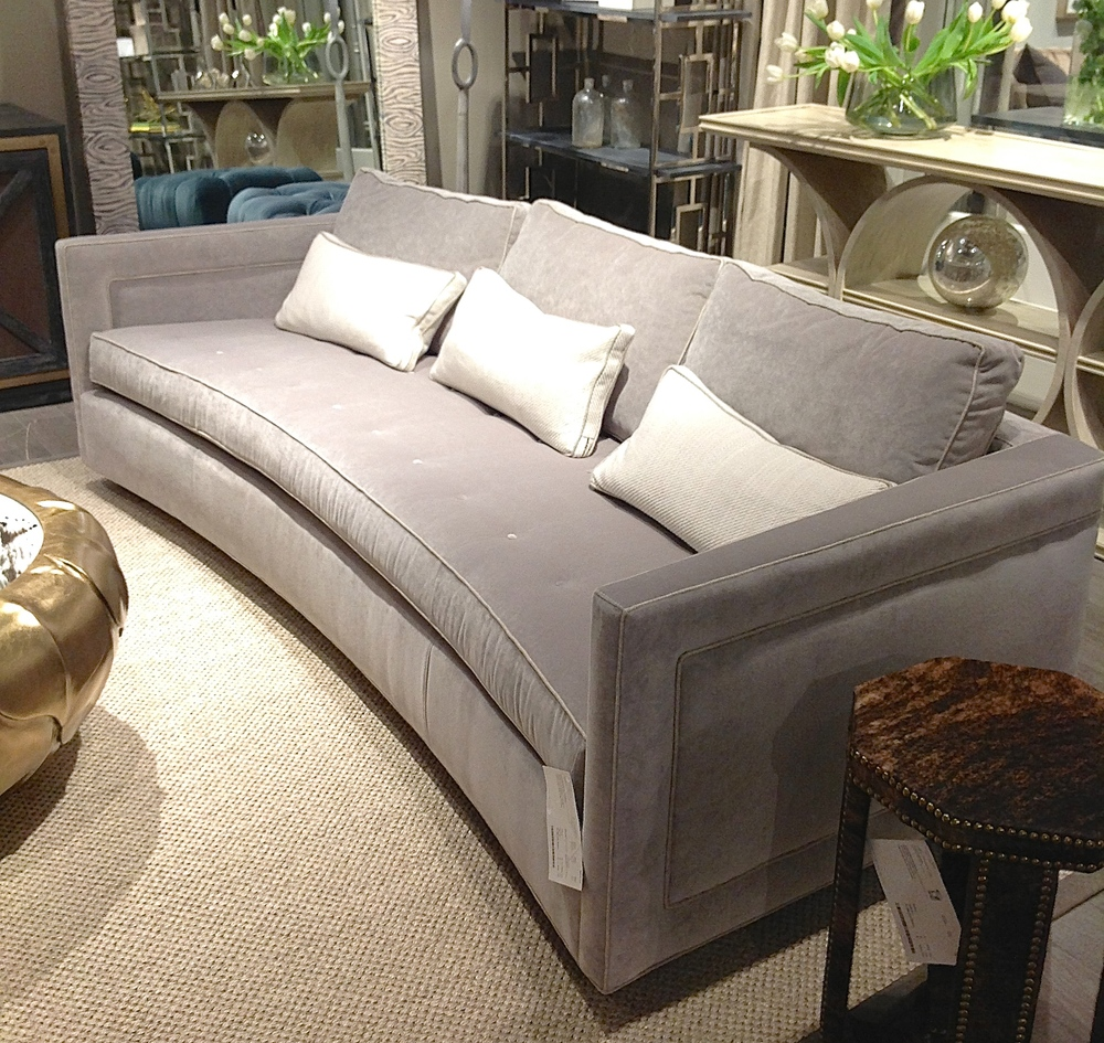 A beautiful, comfortable sofa with the perfect subtle curve on the front to add a little personality! Pick your fabric to make this sofa to your liking!