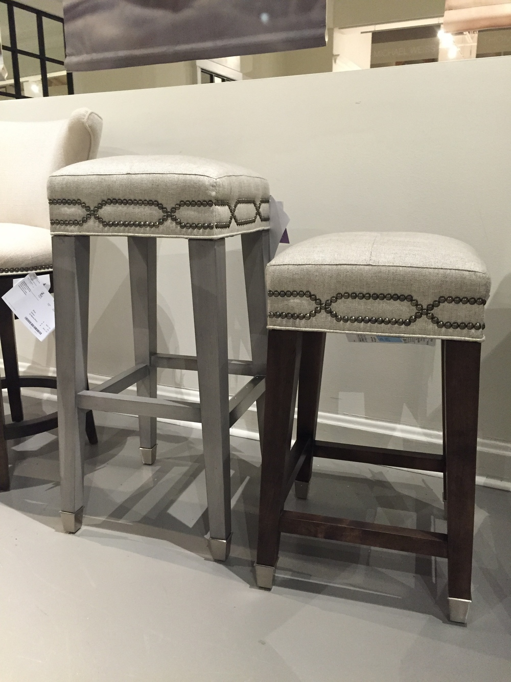 The perfect little bar stools for a kitchen counter!