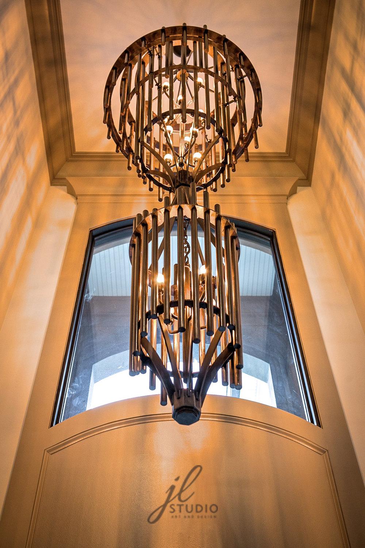 Custom chandelier install complete!