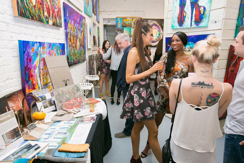 "Designer Jacquelyn Lindsey and Artist Becky Fos were thrilled with the amount of people that came to their ""Fall Back Into Color"" Art & Design event."