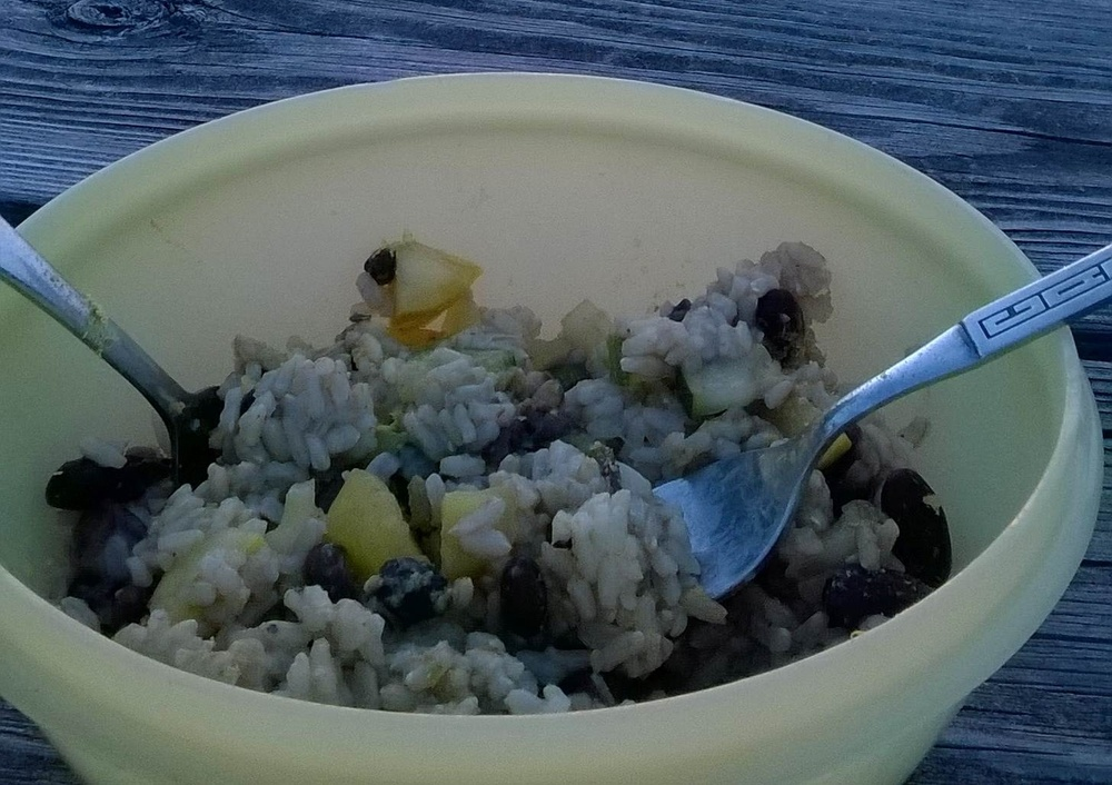 Rice, Bean, & Veggie Sunset