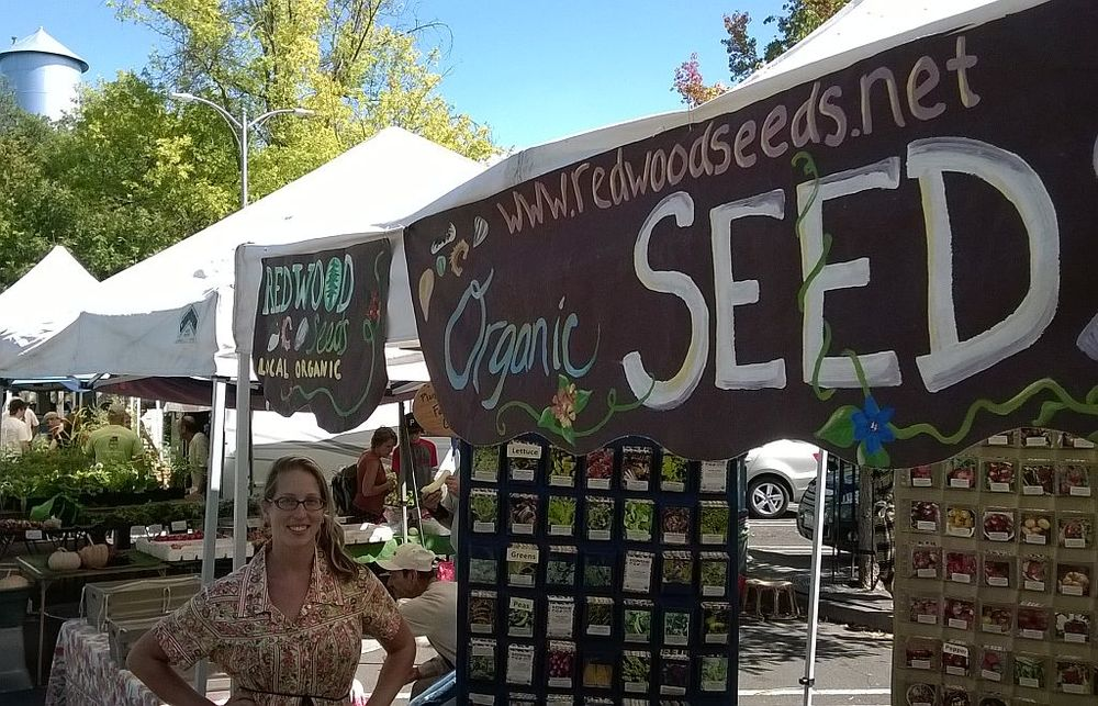 Chico California Farmers Market, representing Redwood Seeds