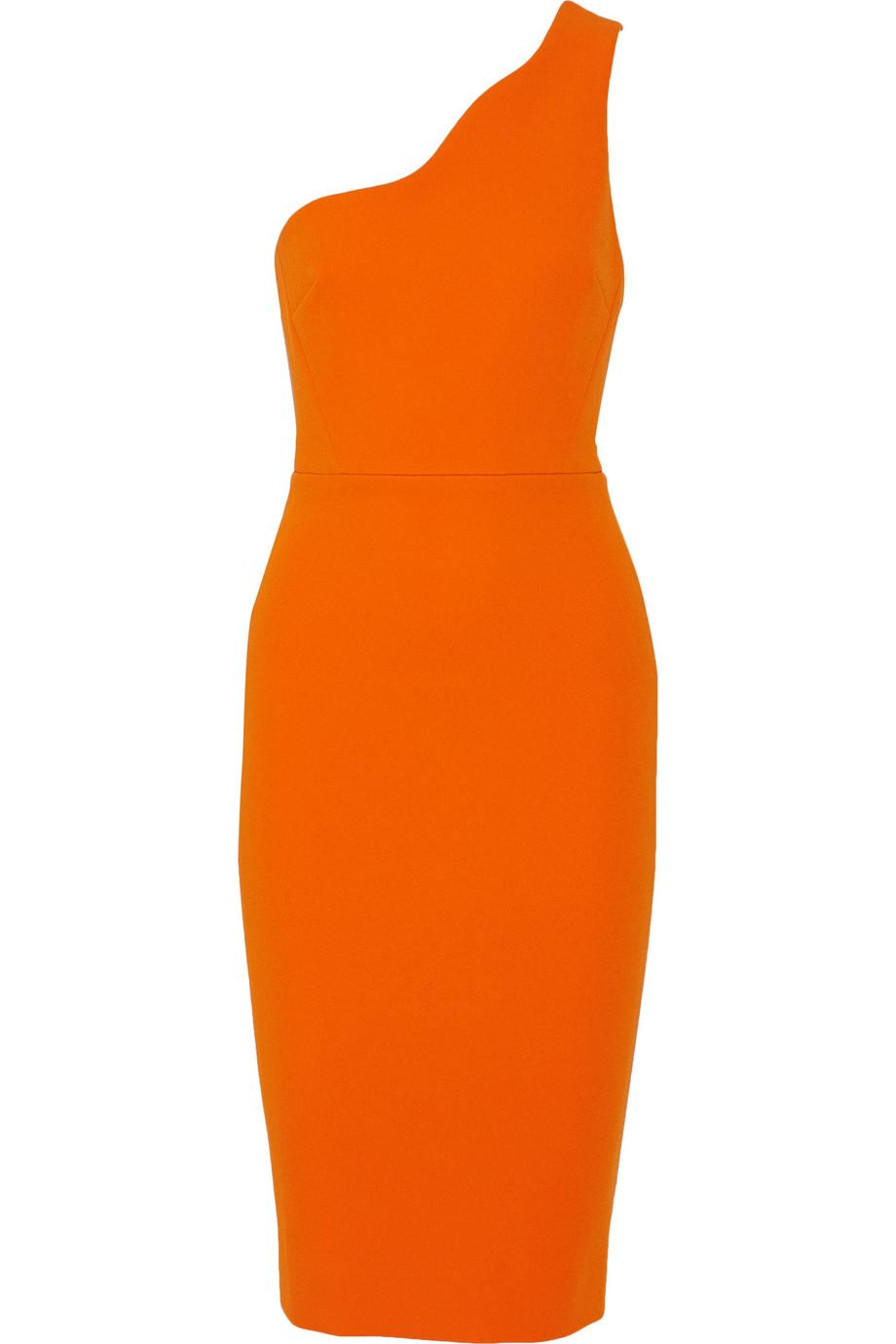 VICTORIA BECKHAM One-shoulder crepe dress
