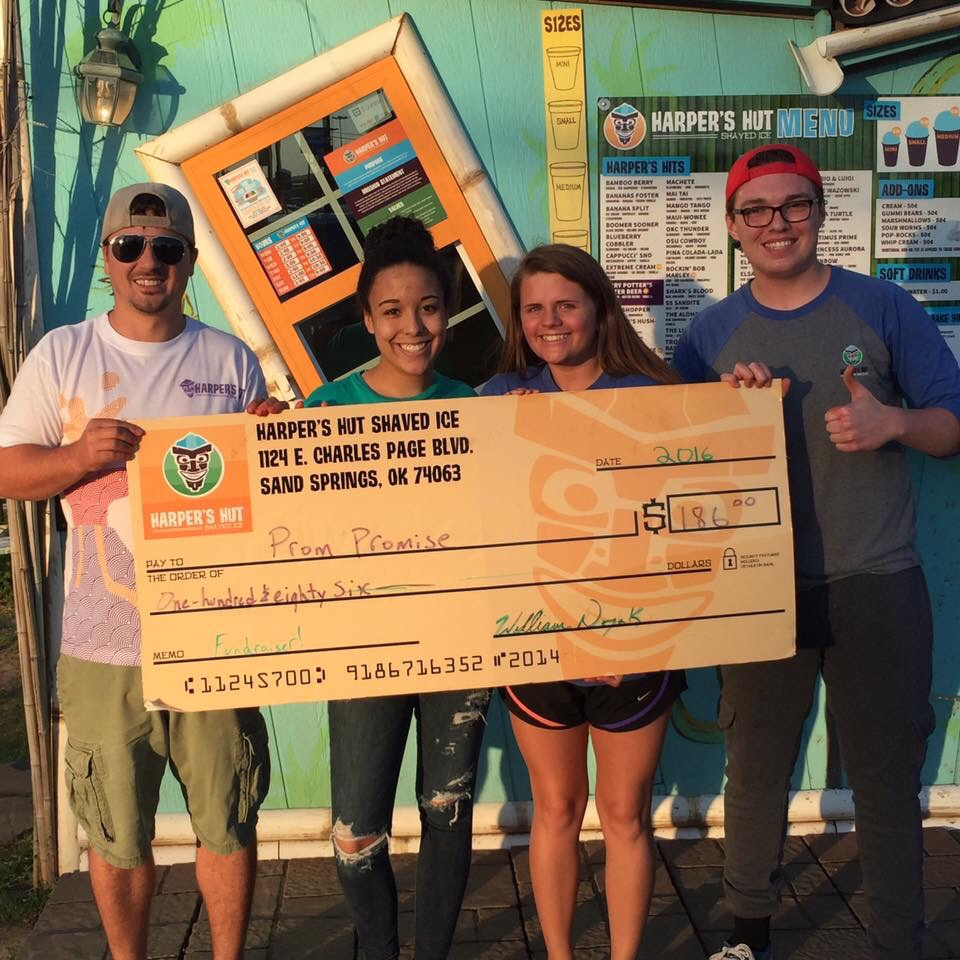 SUBMITTED. Harper's Hut recently raised nearly $200 to help send special needs students to prom.