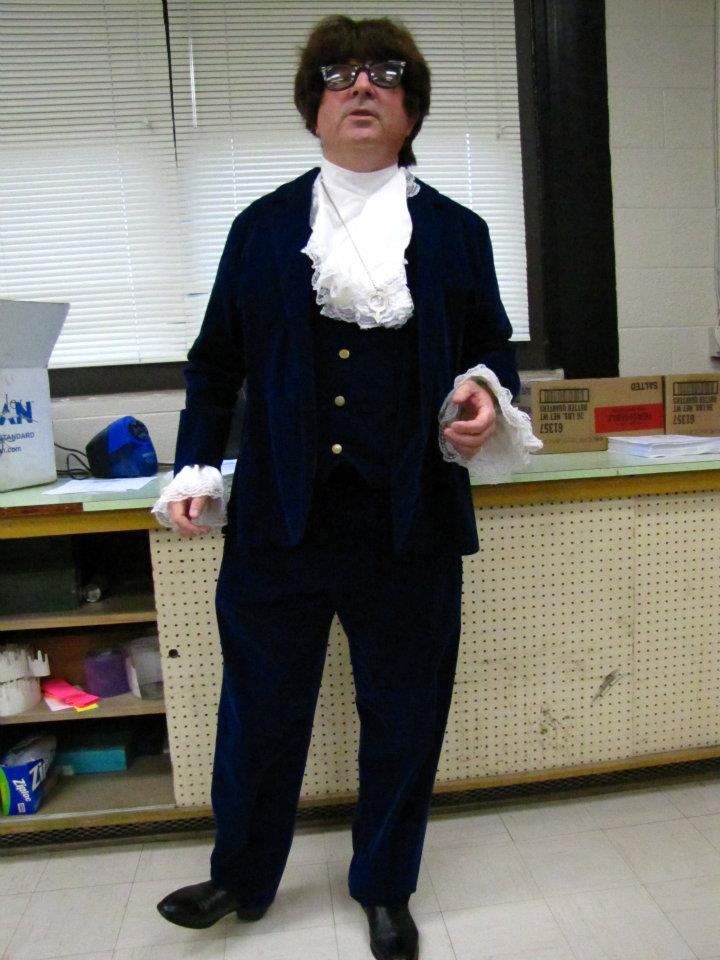 Frank Cooper dresses as Austin Powers during the 2012 Spirit Week.