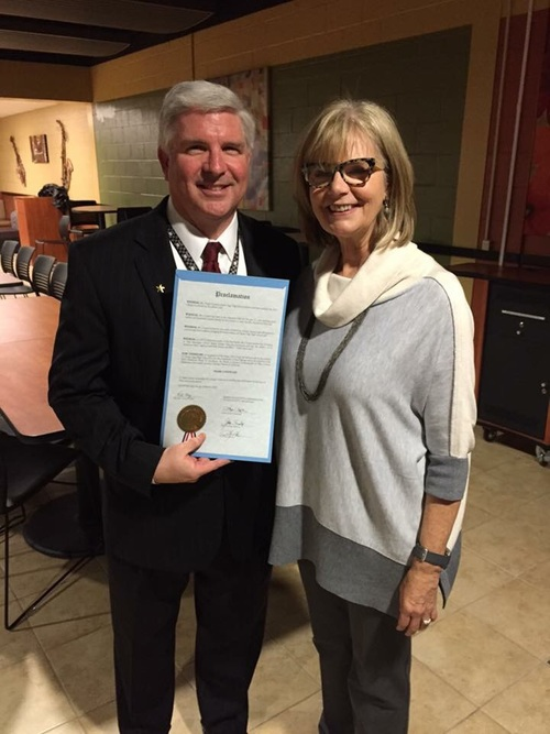 COURTESY. Frank Cooper shows off a proclamation from the Tulsa County Board of Commissioners declaring March 22nd, 2016 to be Frank Cooper Day.
