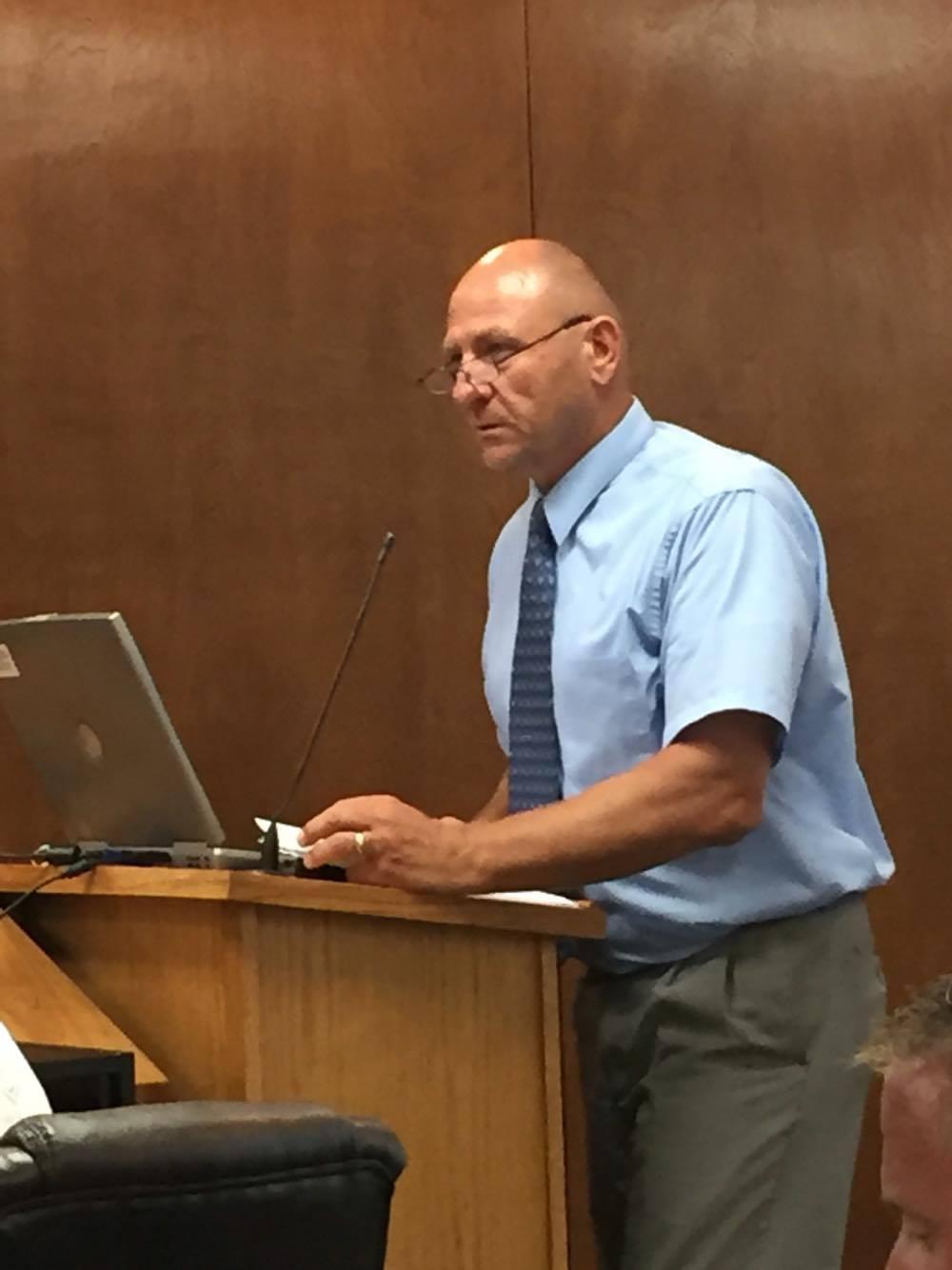 Parks Director Grant Gerondale addresses the Council.