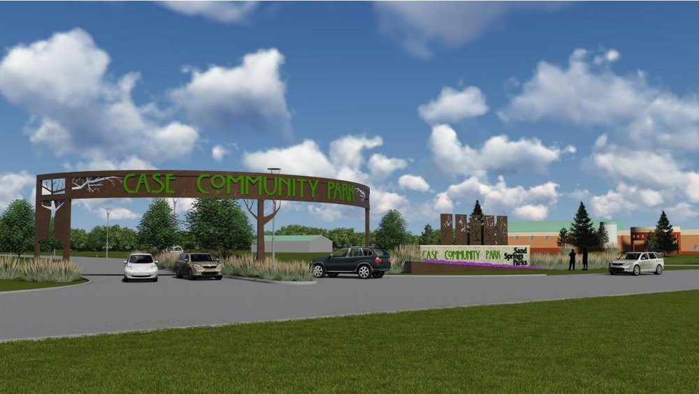Artist rendering of the new Case Community Park entrance. (Courtesy)