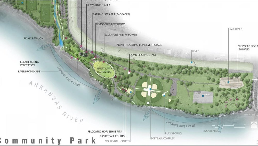 Planned layout for Case Community Park. (Courtesy)