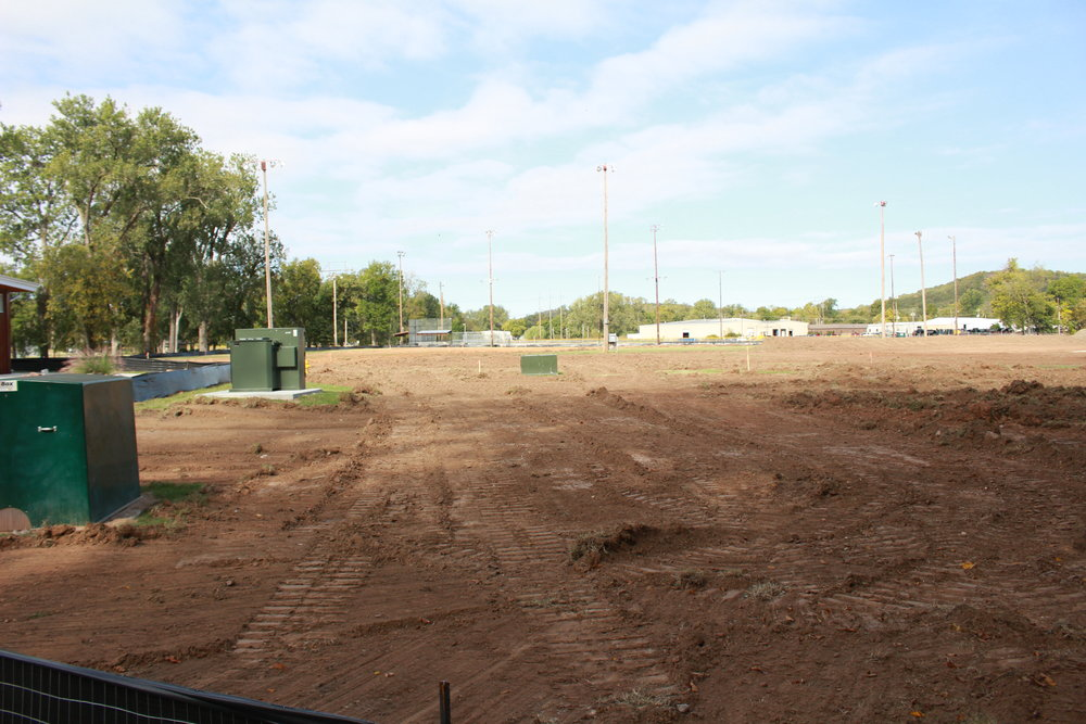 Construction is already under way in Case Community Park. (Photo: Scott Emigh)
