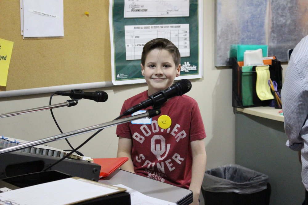 The Cox Radio DJ entertained throughout the day with song requests and commercials for the Biztown establishments.