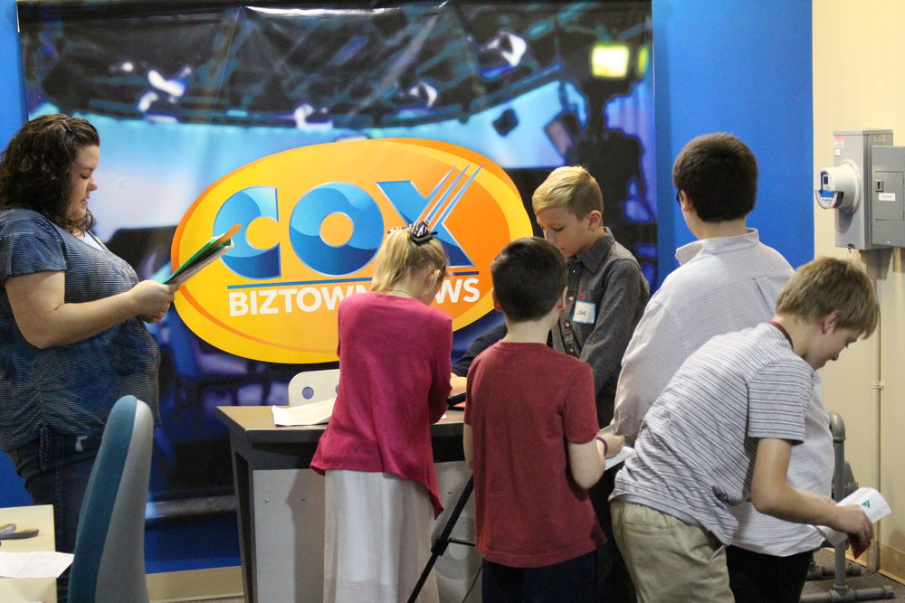 Cox Communications filmed the students throughout the day and sent the school home with the footage.