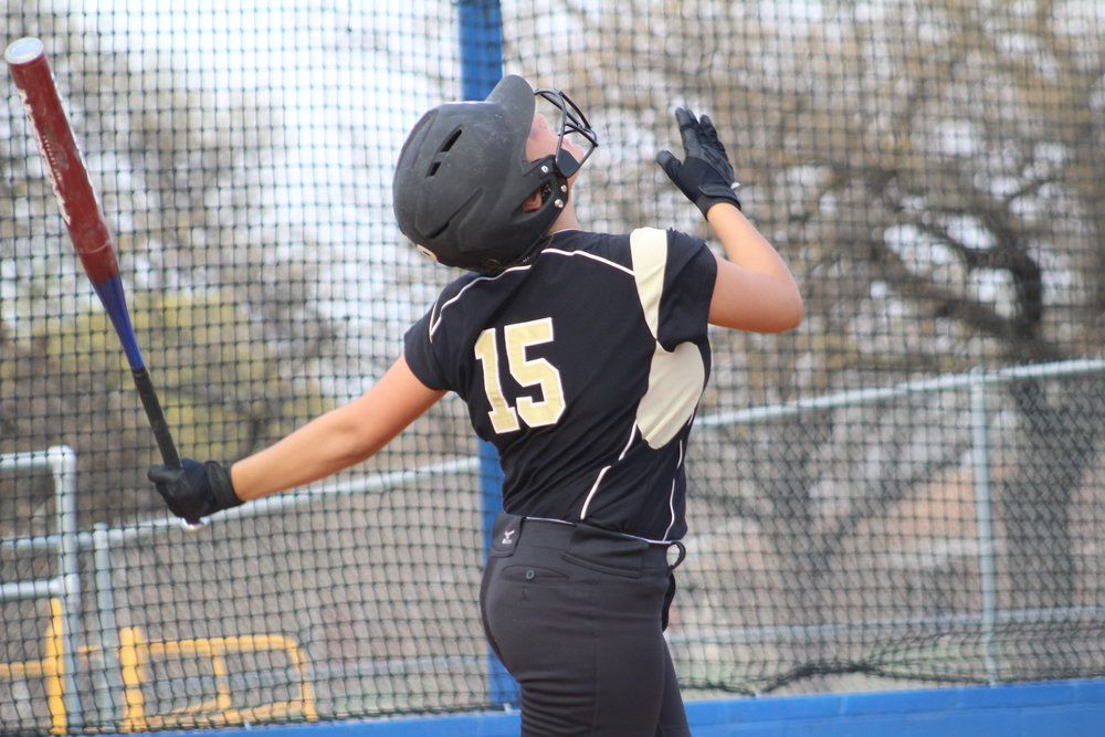Rachel Jones led the Lady Sandites with three runs in their season opener. (Photo: Scott Emigh).
