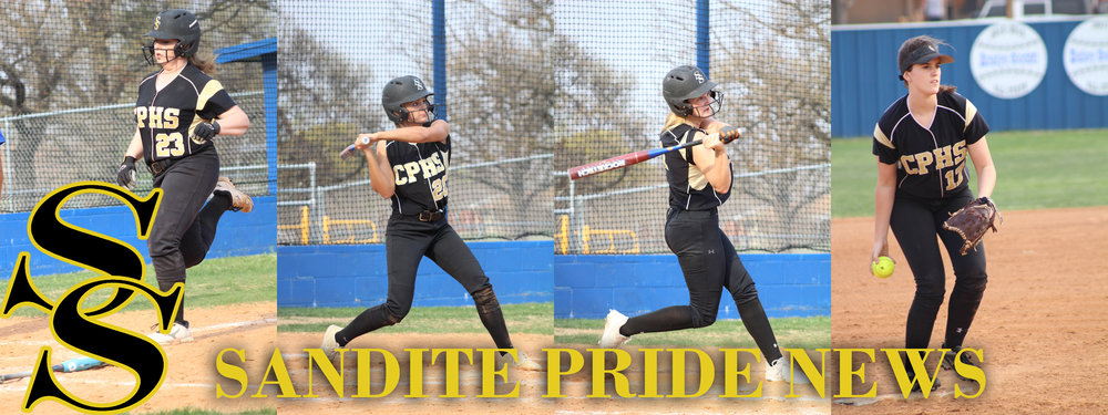 Left to right: Mackenzie Bechtold, Kimi Presnell, Jacie Taber, and Jensen Arnold all hit home runs in a 14-3 victory over Barnsdall. (Photos: Scott Emigh).