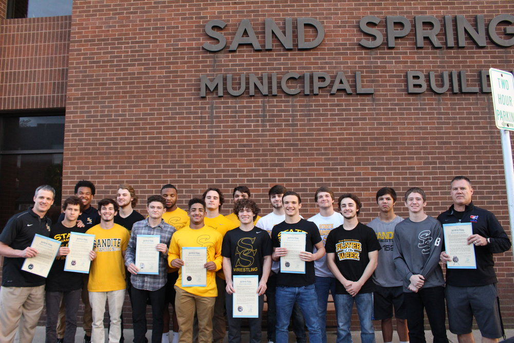 SEE RELATED: Sand Springs City Council recognizes Sandite Wrestling for State Championship wins