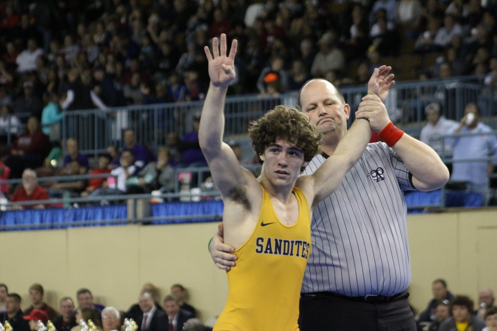 Daton Fix won his fourth State Championship and finished with an undefeated career.