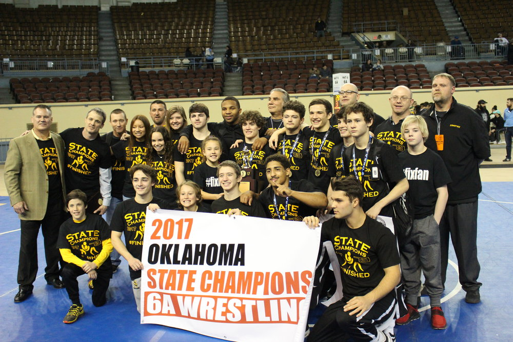 The 2016-2017 wrestling team brought home the first State Tournament trophy since 1971.