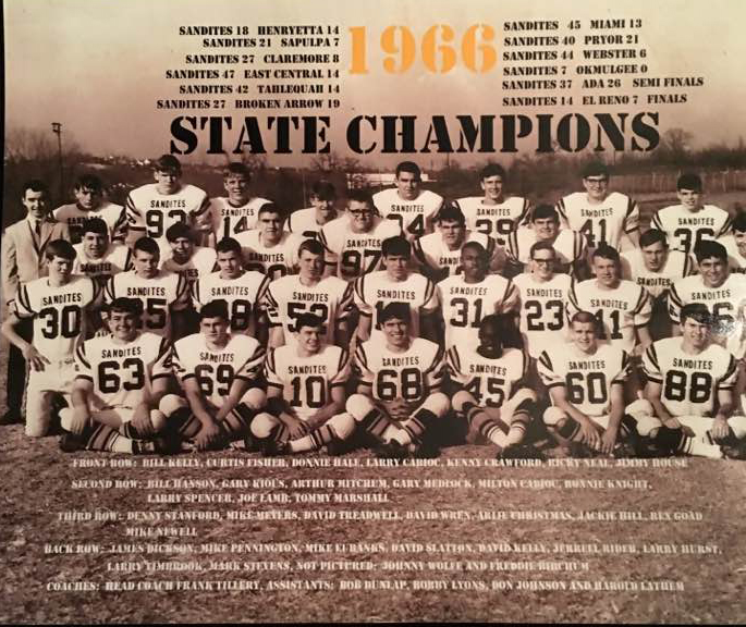 Sand Springs State Championship Football 1966