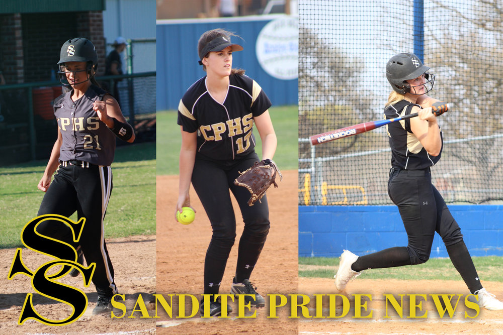 Jacie Taber, Jensen Arnold, and Sabrina Usher each hit home runs in a double header at Broken Arrow.