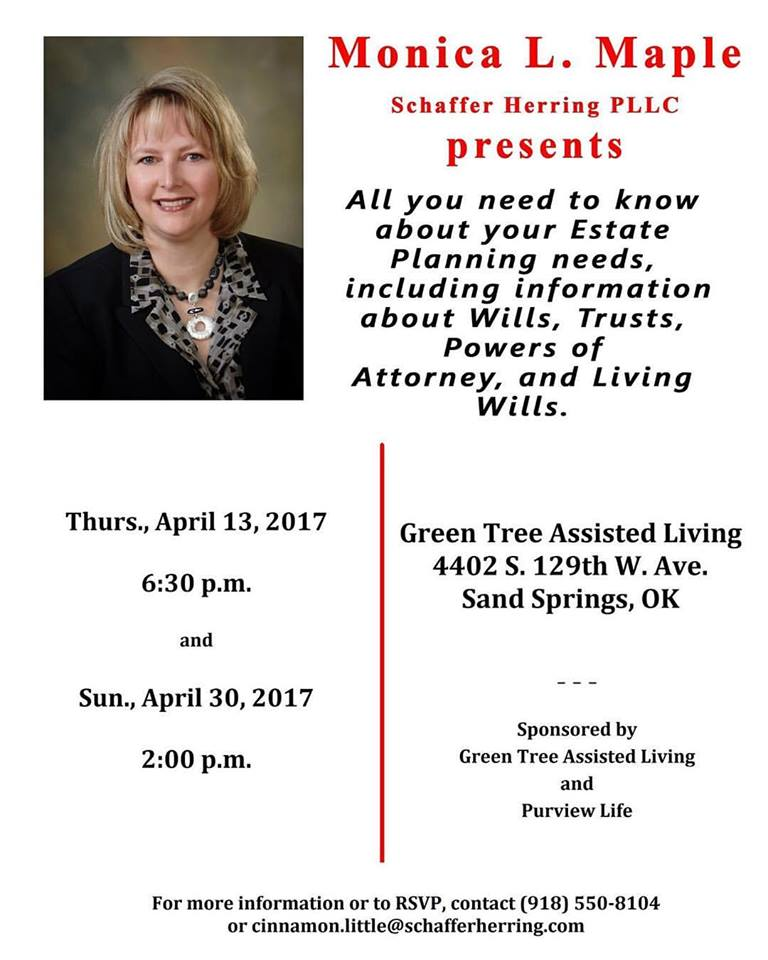 Sand Springs Free Event Estate Planning Seminar