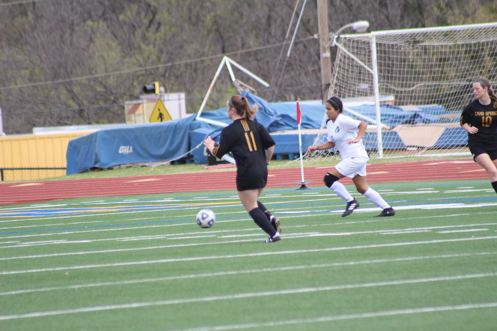 CPHS junior Madison Metcalfe scored the lone goal in a 2-1 loss to Putnam City North last week. (Photo: Scott Emigh).