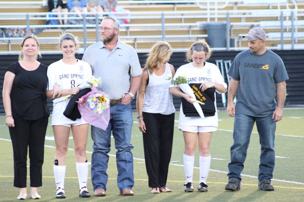 Sand Springs Soccer Senior Night 2017
