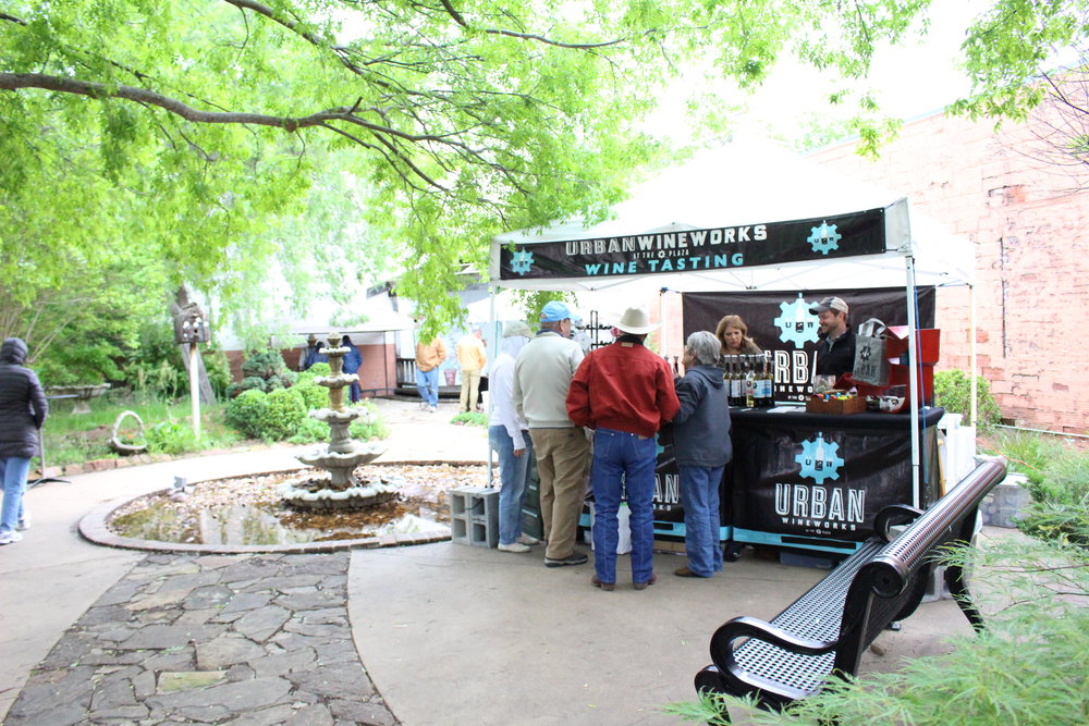 The City Garden Park houses a wine garden at the annual Herbal Affair.