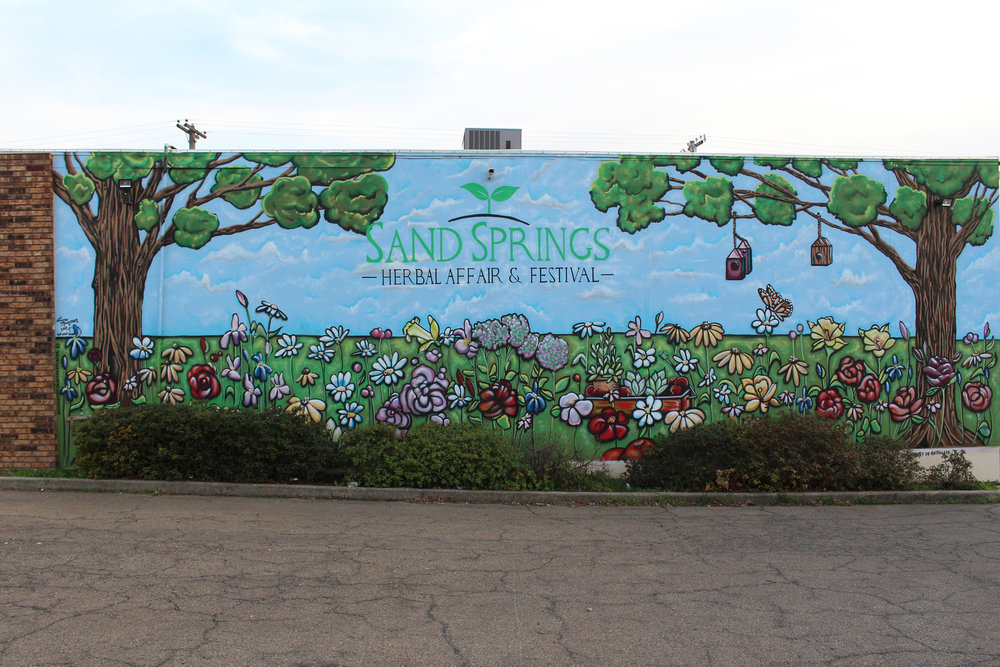 Sand Springs Herbal Affair mural