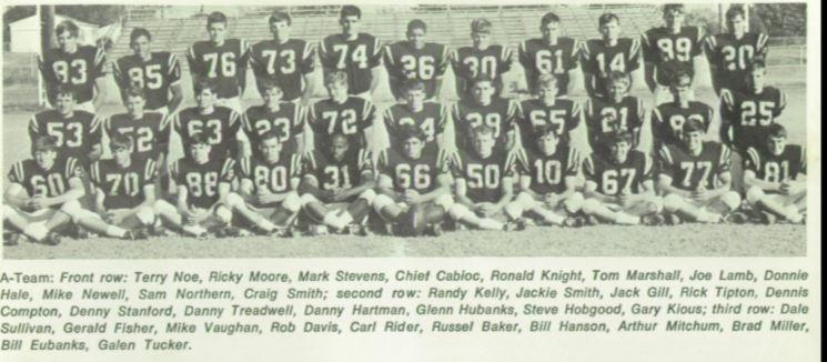 1967 CPHS Football Team.