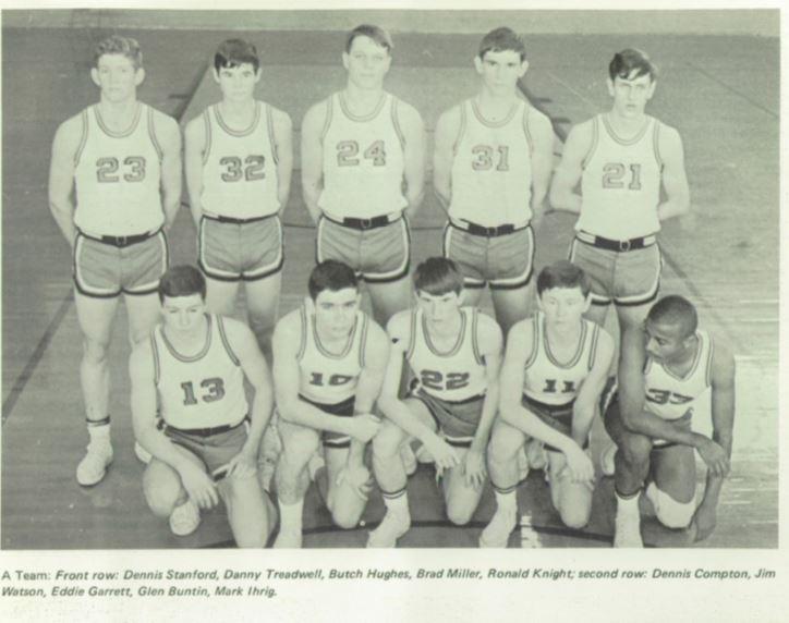 1967-1968 CPHS Basketball Team.