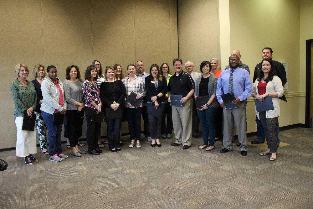 The Continuous Strategic Improvement (CSI) team was recognized for their work in developing the 5-year plan for SSPS.