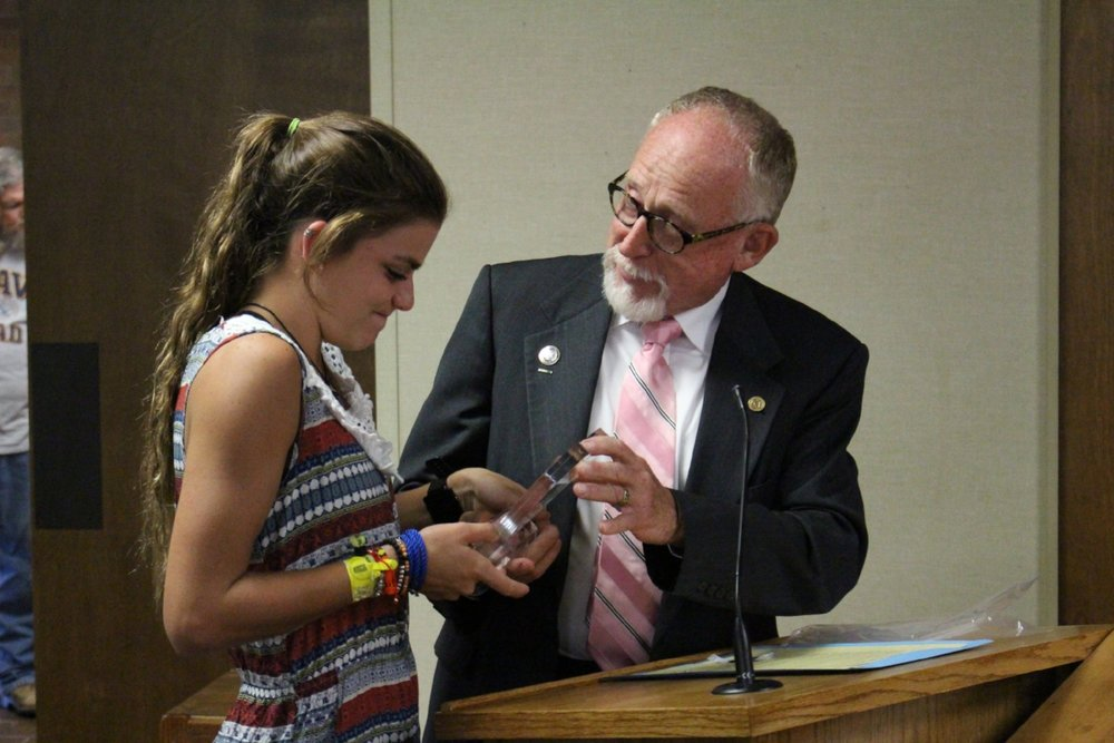 "Cheyenne Walden is presented with the ""Heart of the City"" award. Click to view full photo gallery."