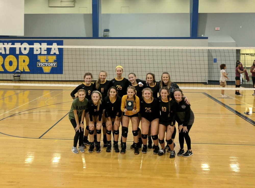 The Lady Sandite Junior Varsity Volleyball team took second place at the Victory Christian Tournament. (Courtesy Photo).