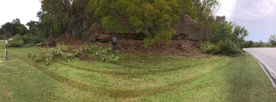City contractors clearing overgrowth along the bluffs near Highway 51. (Submitted).